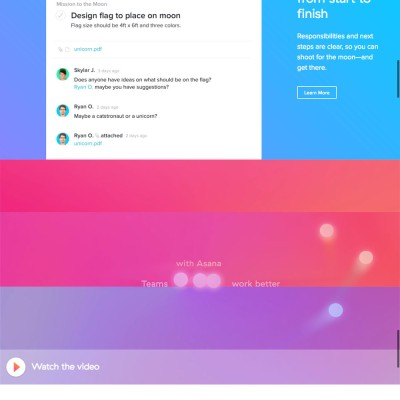 Asana Website Design