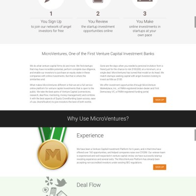 MicroVentures Website Design