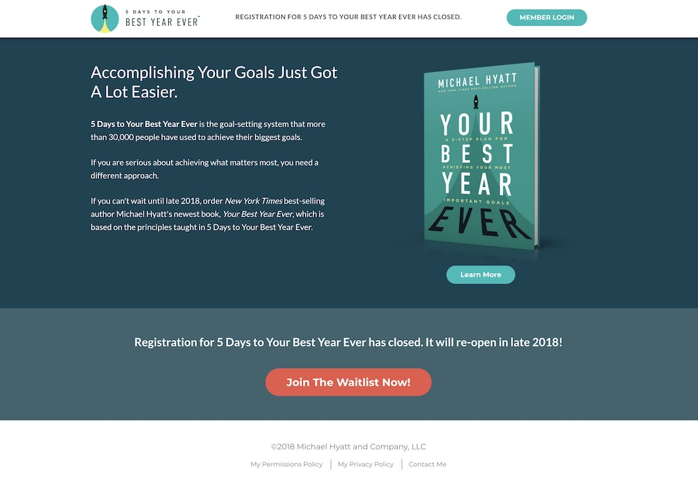 Best Year Ever Website Design