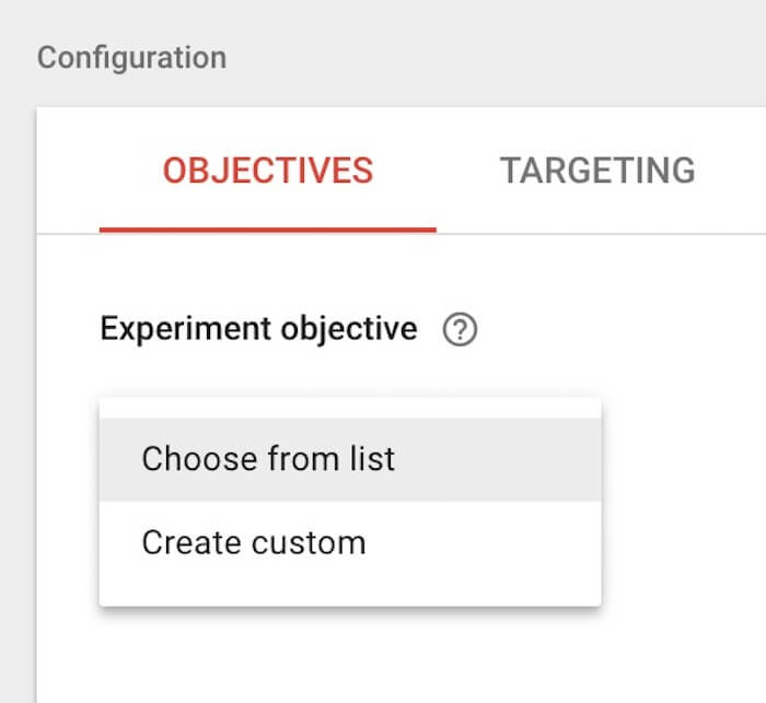 Google Optimize Redirect Test tutorial