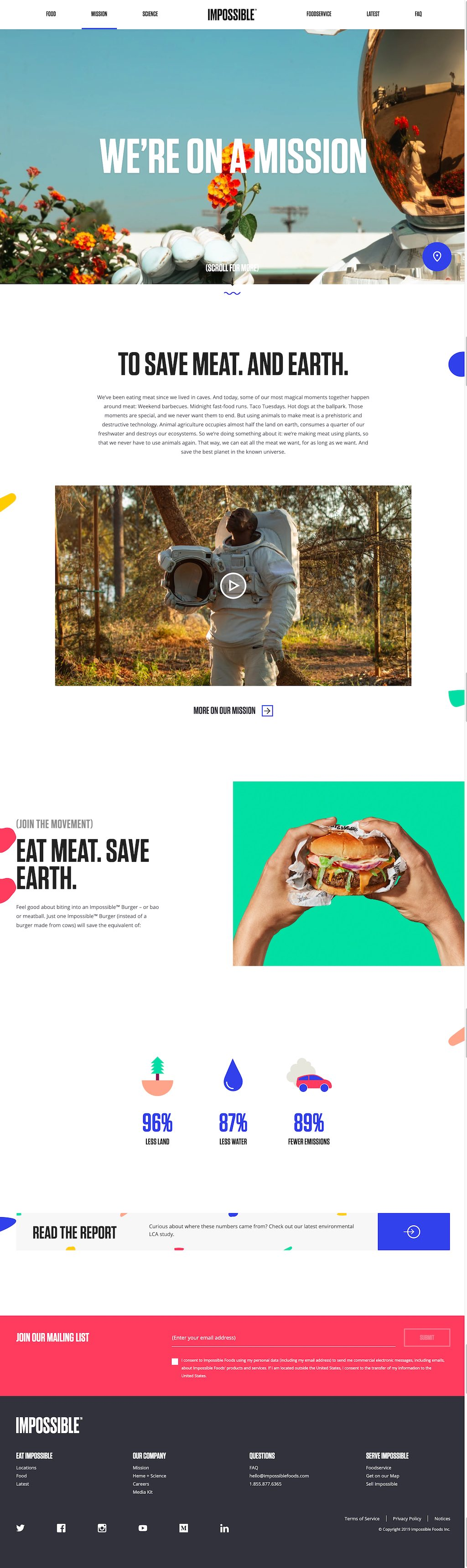 Impossible Foods Website Design