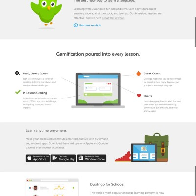 Duolingo Website Design