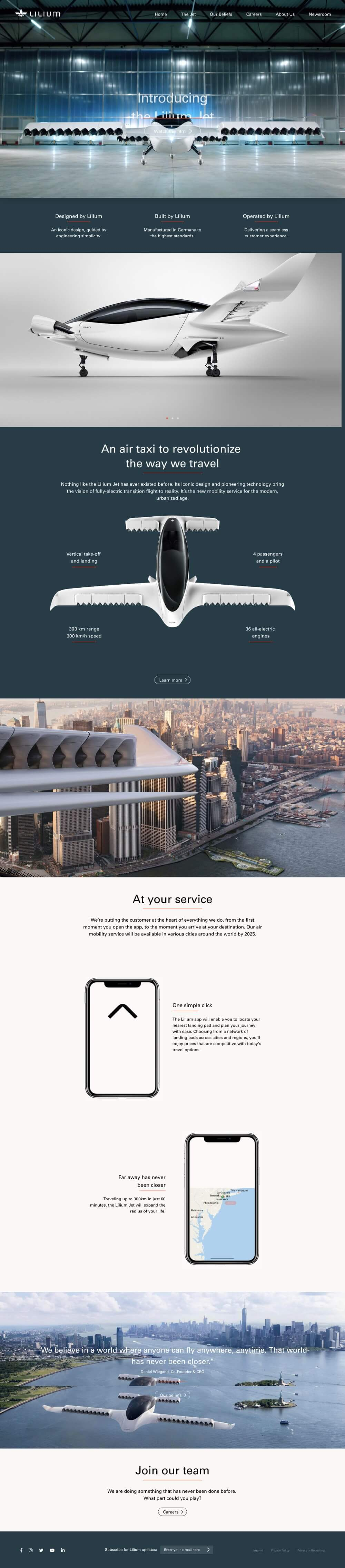 Lilium Website Design