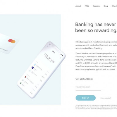 Zero App Website Design