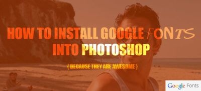 install google fonts into photoshop