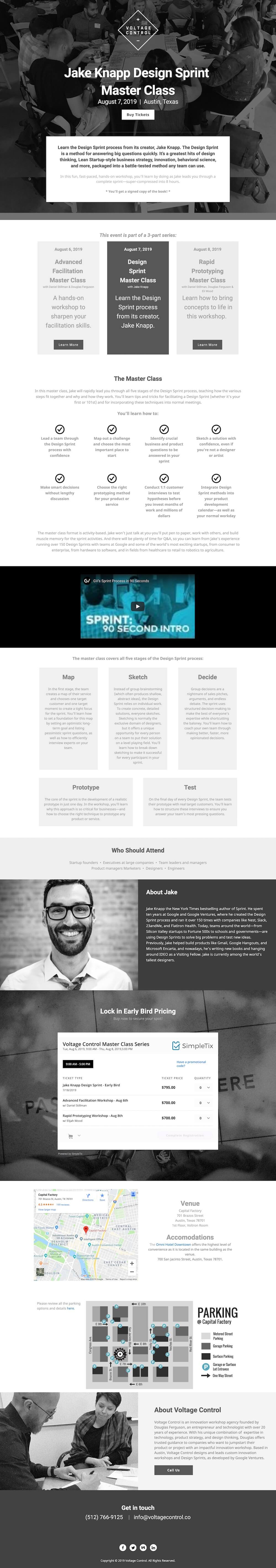 Jake Knapp (Master Class) Website Design