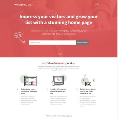 Welcome.ly Website Design